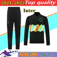 2021 2022 Jaqueta de futebol intercalar Lukaku Futebol Futebol Terno Chandal Futbol 20 21 22 Lautaro Barella Vidal Alexis Camisola Jaquetas Moletom Mudigão