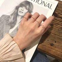 Net rot mädchen ring weibliche student einfache personalität eröffnung index finger einstellbare liebhaber liebe welle ck frag to