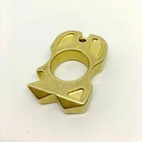 EDC Gear Brass Knuckles Keychain Pendant Outdoor Ring Multi Tool Bottle opener self-defense Broken window Tools Factory Direct Sales ZH59
