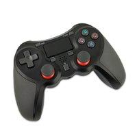 4 ألوان وحدة تحكم لاسلكية ل P4 بلوتوث تسليم لعبة تحكم الاهتزاز عصا التحكم gamepad مع مربع التجزئة