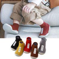 First Walkers 2021 Fashion Designer Shoes Children Socks Baby Boy Girl Born Kids Soft Rubber Zapatos