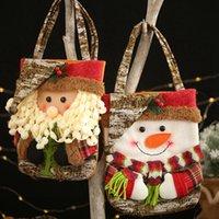 Enfants créatifs Noël cadeau sacs bonhomme de neige Elk Santa Candy Sac à main Christma Décorations pour la maison Zze5287