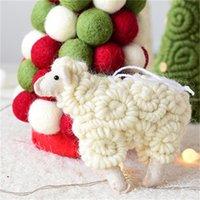 Nordic Style Christmas Hängende Dekoration Handgemachte Wollfilz Little Sheep Festliche Partei liefert 383 R2