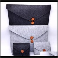 Bags Storage Housekeeping Organization Home & Garden Drop Delivery 2021 Briefcase Computer Bag Ipd Pack 2Pcs Suit Felt Products Non Woven Lap