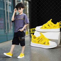 Skate shoes Fashion Hollow Shell Head Children Sports Casual Shoes Breathing Antislip Lightweight Comfortable White 0918