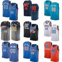 Benutzerdefinierte Shai 2 Gilgeous-Alexander Basketball-Jersey OklahomaCity Luguentz 5 Dort Al 42 HorfordThunder Russell 0 Westbrook Okc Darius 7 Bazley Hamidou 6 Diallo