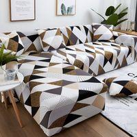 طباعة مرونة الزاوية أريكة أغطية لغرفة المعيشة الأريكة غطاء نفخة مقعد ديكور المنزل تجميع الغلاف