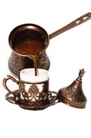 Teste padrão turco Cobre Casting Café Máquina de Pot Feito Handmade 4 Pessoas Decorativas Presentes Acessórios Otomano Fabricantes
