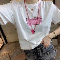 2021 женские мужские дизайнеры футболки футболки мода писем печатать с короткими рукавами леди TEES роскошь повседневная одежда футболки одежда