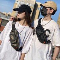 Bolsas de la cintura Bolsa de pecho Hombre 2021 marea Simple Lazy Wind Diagonal Pequeñas Mujeres Coreano Peatorio personalizado Color Sólido Hombro