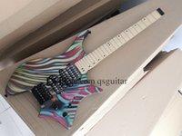 custom stein 6 strings electric guitar,color stripeheadless guitar,fixed bridge,24 frets,2 stwich,HSH pickups