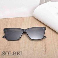 Gafas de sol de moda 2021 Hombres de marca de alta calidad WO Acetato polarizado UV400 Redondos Germanos de solbei