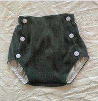 Bebek Kız Katı Elastik Kısa Pantolon Kadife Pantolon Erkek Toddler Yaz Kız Moda Pamuk PP Pantolon Bezi Kapak Underpant HHC6829