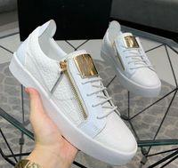Giuseppe sapatos casuais tênis de couro real homens sapatos Chaussures de designer mocassins Martin Frankie o crocodilo grão diamante A2