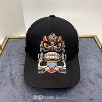 클래식 브랜드 기본 공 럭셔리 모자 남성과 여성 패션 자수 디자인 드래곤 사자 면화 야구 조정 가능한 스포츠 시설의 모자 좋은 품질의 머리 착용