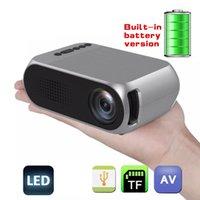 LED YG320 Built-in Battery Version HDMI USB TF AV Mini Projector Home Media HD Video Player
