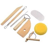 8pcs set Reusable Diy Pottery Tool Kit Home Handwork Clay Sculpture Ceramics Molding Drawing Tools DH8668