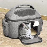 Cat Carriers,Crates & Houses Foldable Shoulder Cats Bag Breather Canvas Zipper Outing Handbag For Small Pets Portable Travel Puppy Kitten Lu