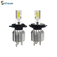 Phare de voiture 4pcs / 2Pairs Super Bright D9 D9 COB SMD LED H4 H7 H8 Auto Head Ampoules 9005 HeadLamp Moto Blanc 12V à 36V