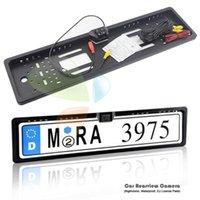 자동 파크 트로닉스 EU 자동차 번호판 프레임 HD 야간 비전 자동차 후면보기 카메라리스 카메라 4 LED 라이트 자동차