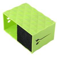 Hair Scissors 1pc Double Slots Hairdressing Holder Stand Case Salon Hairdresser Clips Storage Box (Green)