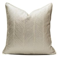 Cushion Decorative Pillow DUNXDECO Luxury Ivory Geometric Art Cushion Cover Decorative Case Modern Simple Stripe Sofa Chair Bedding Coussin