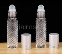 10ML Essential Oil Roller Bottles Empty Glass Roll On Essentials Oils Perfume Essence Travel Container Sample Emptys Bottle DD379