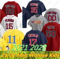 Nouvelle Personnalisé 2021 2022 Boston 34 Jersey David Ortiz 99 Alex Verdugo Ted Williams J.D. Martinez Chris Sale Bogaerts Benintendi 11 Rafael Disvers Baseball Maillots de baseball