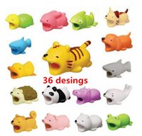 Cable Bite Charger Cables Protector Savor Cover for iPhone Lightning Cute Animal Design Charging Cord no retail package