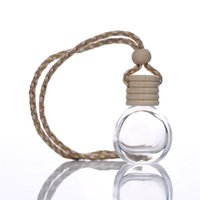 8ml hanging Glass Perfume Bottles Pendant Car Ornament Empty Pendants Perfumes Aromatherapy Bottle Refillable Diffuser Accessories Jar Container Ornaments