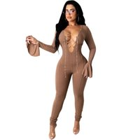 Sexy Hollow Out Womens Rompers Casual Bandage Designer Womens Skinny Jumpsuits Fashion Soild Color Womens Clothes