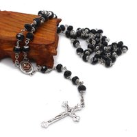 Crystal Rosary Cross Necklace Prayer Beads Catholic Saints Prayer Supplies Gifts