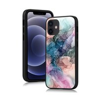 Watercolor Pattern Phone Cases For iPhone 12 11 Pro Max Xs Xr 7 8 Plus Ink Brush Painting Marble Case