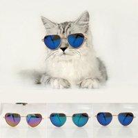 Varış Kedi Köpek Pet Gözlük Sevimli Kalp Şeklinde Göz Giyim Güneş Gözlüğü Serin Evcil POS Sahne Aksesuarları Çoklu Renkli Giyim