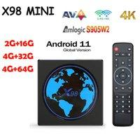 X98 MINI Amlogic S905W2 TV Box Android 11 Quad Core 4G 32G 2.4G&5G Dual Wifi BT 100M 4K Smart Media Player X98Mini 16G 64G