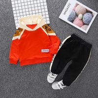 Clothing Sets 2021 Kids For Children's Fashion Color Matching Autumn Sports Suits Born Baby Boys Clothes Hooded Tracksuit
