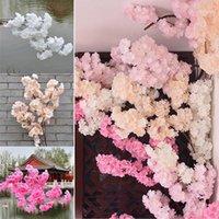 Decorative Flowers & Wreaths Simulation Cherry Blossom Branch Wedding Room Decoration Tree DIY Living Balcony Flower Vine1