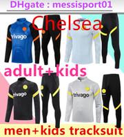 2021 2022 Chelse Ziyech Lukaku Surveetement Jacket Training Fussball Trainingsanzüge 21 22 KANTE PULISIC Trainingsanzug Fußballjacken Set