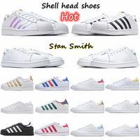 2021 Stan Smith Chaussure Homme Womens Leather Superstars 신발 여러 가지 빛깔의 망 여성 패션 캐주얼 스케이트 보드 플랫폼 남자 디자이너 스니커즈