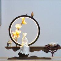 Doftlampor Zen backflow rökelse brännare hållare rök vattenfall pinnar LED lampa ring smycken vardagsrum kontors skrivbord dekor