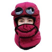 Unisex Caza Esquí al aire libre a prueba de viento con gafas Termal Bomber Cap Otoño Trampa Sombrero Ciclismo Invierno Patinaje de nieve Capas de nieve Máscaras