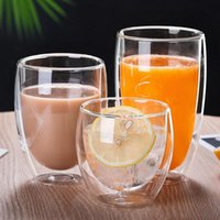Wine Glasses 1PC 250 350 450ml Milk Coffee Double Layer Insulation Water Glass Cup Mug Drinkware Kitchen Accessories For Fruit Juice