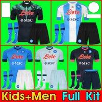 Kids Kit Erwachsene 19 20 21 Napoli Fussball Jersey Startseite 2020 2021 Neapel Zielinski Hamsik Insignente Merten Callejon Spieler Rog Football Hemden