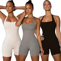 النساء اليوغا حللا السروال القصير المألوف سليم عارضة الرياضة بذلة من قطعة واحدة المرأة اللياقة البدنية sweatpants أزياء السيدات تصميم الملابس