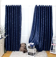 Modern Window Curtain Star Pattern Kids Children Curtains For Home Living Room Decoration Blackout Drapes Popular ZHL4490