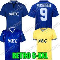 1995 Ferguson EFC الرجعية لكرة القدم جيرسي Kanchelskis Ridout Limpar 86 87 88 Hinchcliffe Jackson Stuart Home Horne Football Shirts Final Wasise