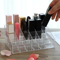Jewelry Pouches, Bags Clear Acrylic 24 Grid Makeup Storage Box Lipstick Polish Display Stand Holder Cosmetic Organizer