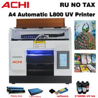 A4 UV 프린터 플라이 디지털 자동 LED 프린터 엡손 R1800 잉크 + 로타리 + 티셔츠 테이블 병 T 셔츠 인쇄 기계에 대 한