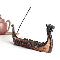 Retro Weihrauchbrenner Duftlampen Brenner Halter Traditionelles chinesisches Design Harz Drachen Boot Home Kunst Dekoration GWE7588