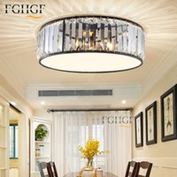 Luxurious Lamparas Crystal Ceiling Light Chandeliers 110v 220v Round Mounted Lighting Lamp Lustres de Cristal For Kitchen Bedroom